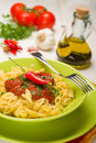 Penne all'Arrabbiata - Italian Pasta Stock Photography