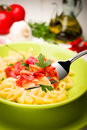 Penne all'Arrabbiata - Italian Pasta Stock Image