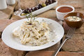 Penne with Carbonara Sauce Stock Image