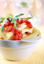 Penne with tomato Stock Image