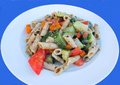 Penne with vegetables wheat cooked Stock Photography