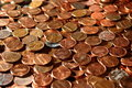 Pennies from heaven Royalty Free Stock Photo