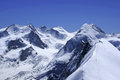 Pennine alps view from breithorn m towards monte rosa massif switzerland Stock Images