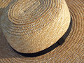 Pennsylvania Amish Straw Hat Detail Stock Photography
