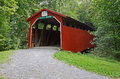 Pennsylvania covered bridge clay s is located in perry county the was built in it is a burr arch truss Stock Photos