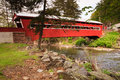 Pennsylvania Paden Red Covered Bridge Royalty Free Stock Photo
