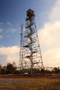 Pennsylvania fire tower the grand view is located in luzerne county on the highest point on red rock mountain Stock Photo