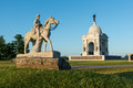 Pennsylvania memorial th cavalry statue in front of in the gettysburg national military park in gettysburg Royalty Free Stock Photography