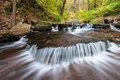 Pennsylvania ricketts glen state park autumn cascade a very photogenic along kitchen creek at in the allegheny mountains of during Stock Photography