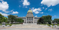 Pennsylvania state capitol building in harrisburg on july Stock Photography