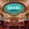 Pennsylvania state supreme court chamber the in the capitol building in harrisburg Stock Images
