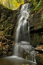 Pennsylvania Waterfall In Autumn Royalty Free Stock Photos