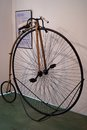 The penny-farthing bicycle Royalty Free Stock Photo
