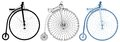 Penny-Farthing Bicycle Illustration Vector Royalty Free Stock Photo