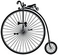 Penny farthing bicycle vintage high wheel Royalty Free Stock Photography