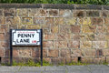 Penny Lane in Liverpool Royalty Free Stock Photo