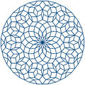 Penrose tiling pattern a non periodic generated by an aperiodic set of prototiles vector illustration on white background Royalty Free Stock Photography