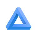 Penrose triangle icon.
