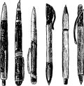 Pens doodle Royalty Free Stock Photo