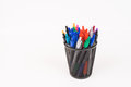 Pens in Modern Cup Royalty Free Stock Photo