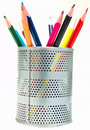 Pens in the pen holder Royalty Free Stock Photo