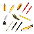 Pens and pencils vector icons Royalty Free Stock Photo