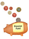 Pension Fund piggy bank UK, isolated Stock Image