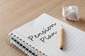 Pension plan Royalty Free Stock Photo