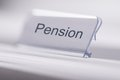 Pension Tag On Table Royalty Free Stock Photo