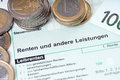 Pension tax return german form for Stock Photos