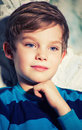 Pensive boy Royalty Free Stock Photo