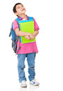 Pensive boy student Stock Photos