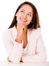 Pensive business woman Royalty Free Stock Images