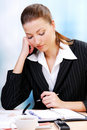 Pensive businesswoman Royalty Free Stock Photography