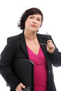 Pensive businesswoman making decisions Royalty Free Stock Photography