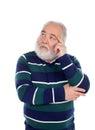Pensive senior man Royalty Free Stock Photo