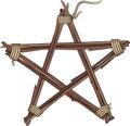 Pentagram made of twigs