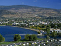 Penticton in Okanagan Royalty Free Stock Photography