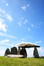 Pentre ifan the is a prehistoric megalithic communal stone burial chamber which dates from approx bc in pembrokeshire wales uk Stock Images
