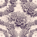 Peony flowers on a watercolor background. Seamless pattern. Abstract wallpaper with floral motifs.