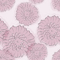 Peony seamless pattern Stock Photos