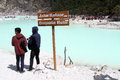 Peop peoplw and crater lke kawah Royalty Free Stock Image