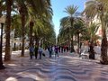 Peopel on holiday in alicante Spain Royalty Free Stock Photo