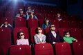 People in 3D movie theater Stock Photos