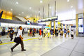 People across tennoji subway station osaka japan august in august one of the busiest in osaka Stock Photos
