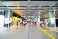 People across tennoji subway station osaka japan august in august one of the busiest in osaka Stock Photo