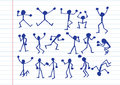People activity  icons in illustration Royalty Free Stock Photo