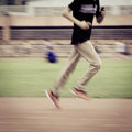 People activity running blur on sport ground Stock Image