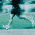 People activity running blur on sport ground Stock Photo