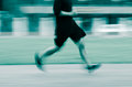 People activity running blur on sport ground Royalty Free Stock Photos